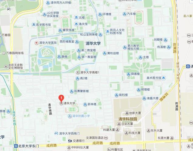 清华大学学校地图